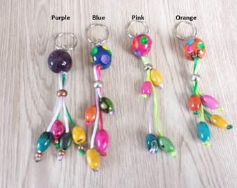 Artisan Seed Key Holder. Vibrant Colors
