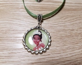 10 Princess Tiana, Timkerbell, Frozen Fever Necklaces Party Favors.