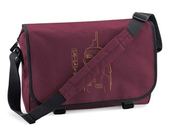 Messenger Bag Isis - personalized with your name in hieroglyphs