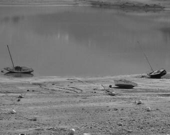 Stranded boats... Lake Saint Michel