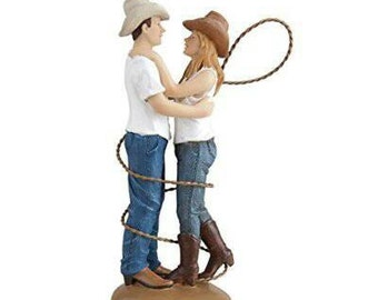 Country Cowboy Cowgirl Wedding Cake Topper