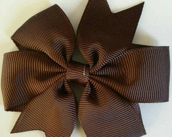Brown bow by RoselliesClosetshop
