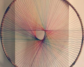Bamboo rainbow string art