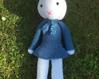 Miss Rabbit plush doll amigurumi