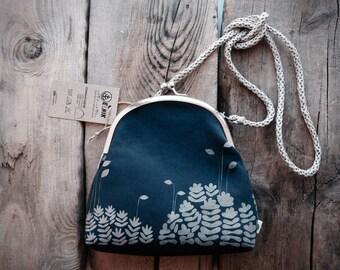 "Сoin purse with metal frame ""Kukushkin flax"""