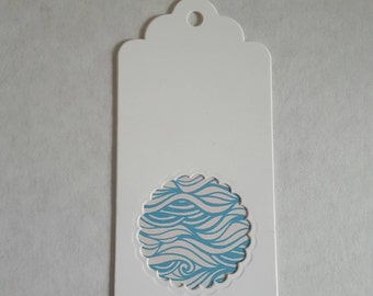 Set of 5 handmade gift tags with pattern inlay