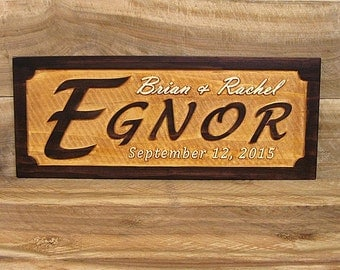 Personalized Wedding Gift, Personalized Anniversary Gift, Custom Wood Sign, Personalized Wood Sign, Established Date Sign, Couple's Gift