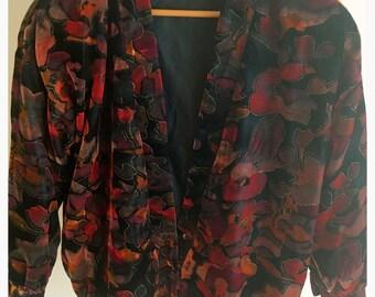 Autumn Multi-Coloured Velvet and Glitter Bomber Jacket