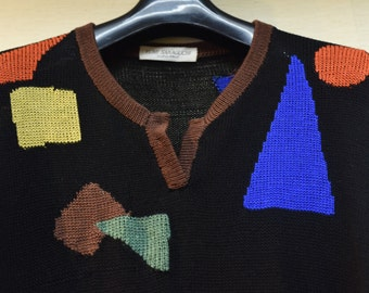 Black Argyle sweater