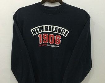 Vintage 90's New Balance 1906 Design Skate Sweat Shirt Sweater Varsity Jacket Size M #A72