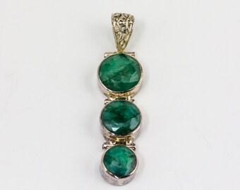Green Jade tiered pendant
