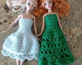 Elsa and Anna's new dresses