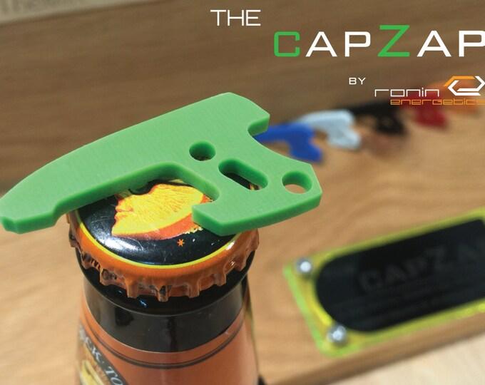 Lime Green G10 Personalized Keyring Pistol Bottle Opener - EDC Gun Keychain Travel Tool, Star Lord, Gift for Him, Groom Gift, CapZap