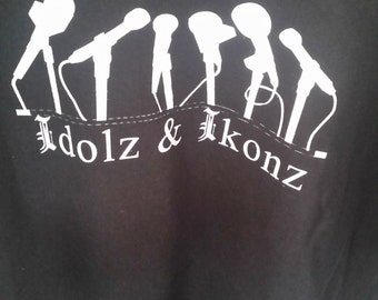 Idolz & ikonz  t shirt. Be remembered