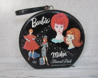 Vintage Barbie And Midge Travel Pals Doll Case Mattel 1964