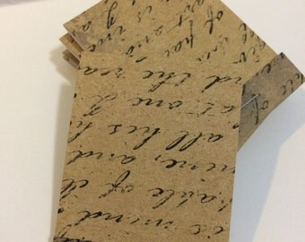 Vintage Writing Paper Mini Matchbook Notepad Notebook | Set of 6 Memo Pads | Gift or Party Favor | Stocking Stuffer