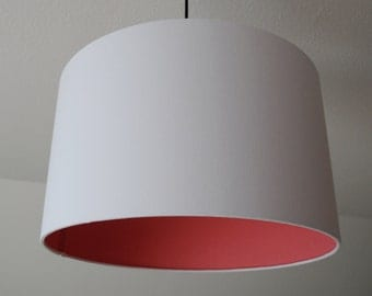 """Lampshade """"Coral-white"""" (coral white)"""