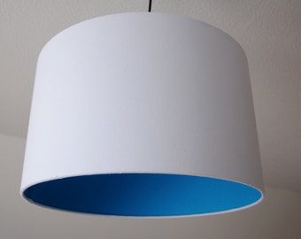 "Lampshade ""Turquoise-White"""