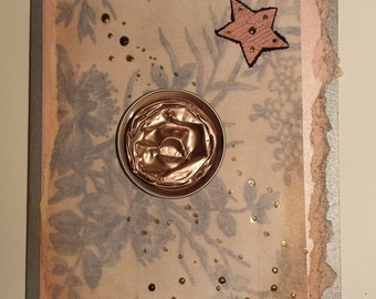 Little pink star- greeting card