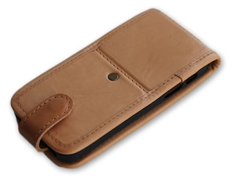 Handmade leather smartphone case, Leather sleeve, Leather case wallet, Smartphone case, iPhone leather case, Genuine leather