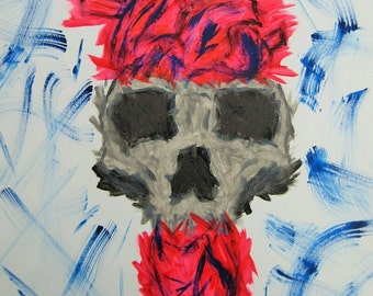 Skulled Heart Painting