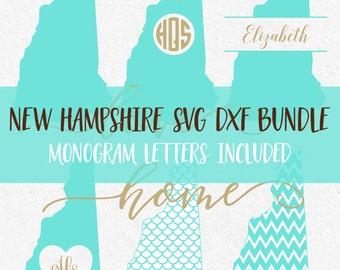 New Hampshire Svg Bundle Svg Fonts Svg Monogram Frames Monograms Svg files for silhouette svg files for cricut svg files svg mermaid pattern