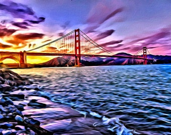 Golden Gate Bridge - Print or Canvas