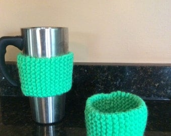 Two Green cup holders-cozie