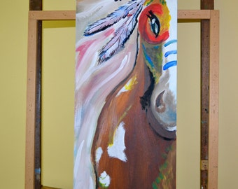 Warrior Horse Painting