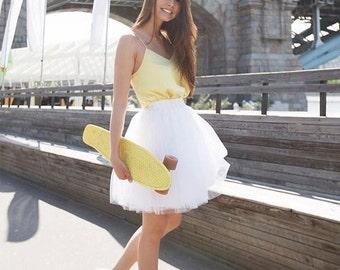 White Tulle Skirt White Tutu Adult Tulle Skirt