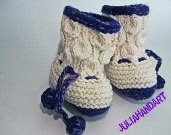 Baby booties, boots , ugi, handmade