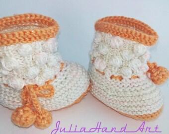 Booties for little princes, boots , ugi, handmade