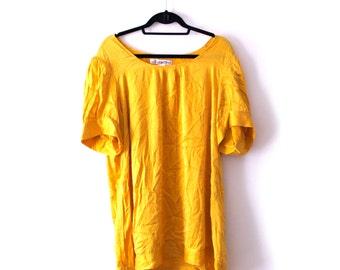 100% Silk Yellow Dress