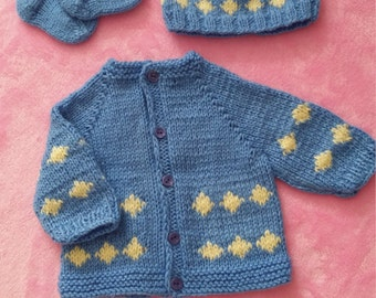 Baby boys knitted set