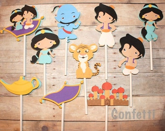Aladdin Cupcake Toppers