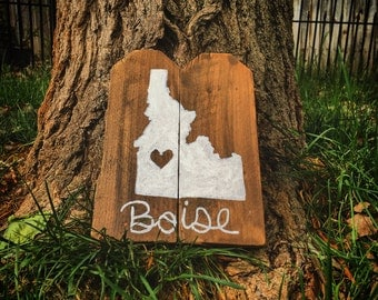 Handcrafted Boise sign made