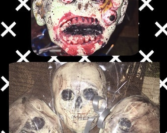 Zombie and/or skull lollipops