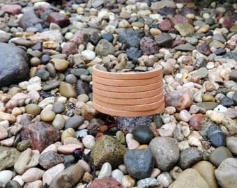 Striped leather bracelet