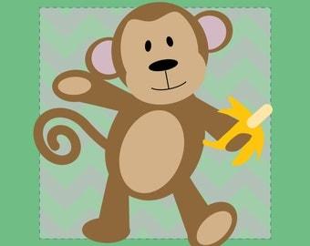 Monkey Nursery Print