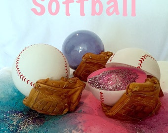 3 Softballs Gender Reveal Combo: Blue, Pink, and Practice Ball