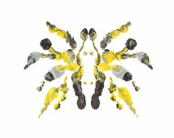 Rorschach 5, Original Art Print, Abstract, Ink Blot, 5x7, 8x10 and 11x14