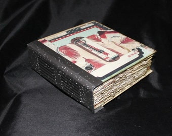 Art Journal, Mixed Media Journal, Scrapbook Journal, Handmade Journal, 6x6 Journal