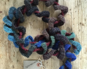Ruskin Hand Crocheted  Ruffle Scarf