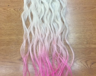 Hot Pink Ombre Human Hair Extensions