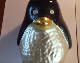 Vintage German Handblown Penguin Ornament
