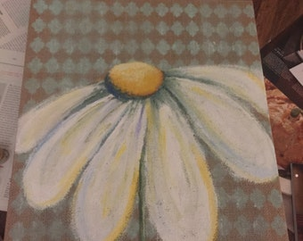 He loves me Daisy painting