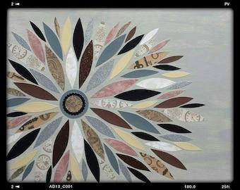 Earth Tone Canvas Leaf Art