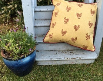 Chicken print handmade cushion