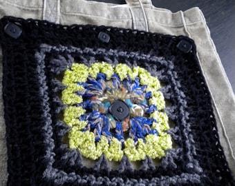 Granny square, bag, shopper, pouch, application, DIY, vintage - look