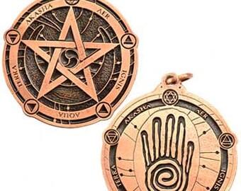 Protection Pectoral talisman copper color